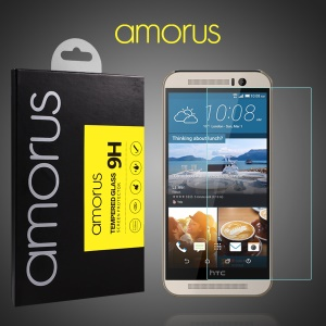 AMORUS for HTC One M9 Tempered Glass Screen Protector Rounded Edge