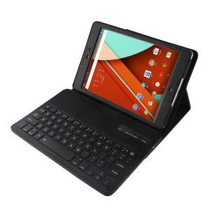 NS209 For HTC Google Nexus 9 Bluetooth Keyboard Leather Cover with Stand - Black
