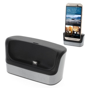 Desktop OTG Sync Charging Dock Cradle for HTC One M9 - Grey
