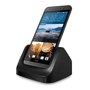 USB Dock Station Charger Cradle Holder for HTC One M9 - Black