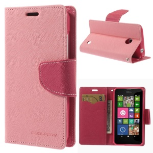 Mercury GOOSPERY Fancy Diary Wallet Leather Stand Case for Nokia Lumia 635 630 - Pink
