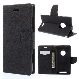 MERCURY Goospery Fancy Diary Wallet Leather Stand Case for Nokia Lumia 830 - Black