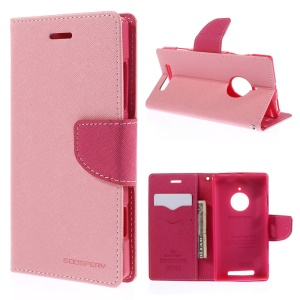 MERCURY Goospery Fancy Diary Leather Stand Case w/ Card Slots for Nokia Lumia 830 - Pink