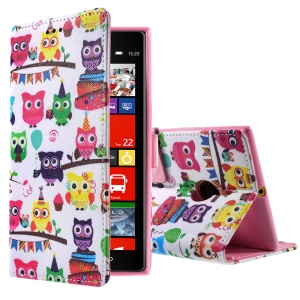 Callfree Multiple Cute Owls Wallet Leather Diary Cover for Nokia Lumia 1520