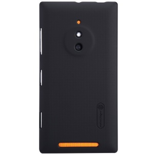 Black for Nokia Lumia 830 NILLKIN Super Frosted Shield Hard Shell Protector w/ Screen Film