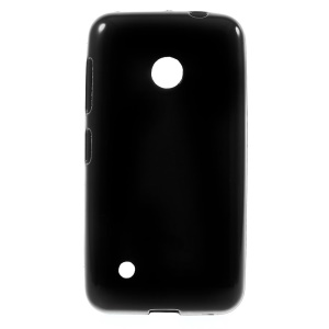 Solid Color Glossy TPU Cover Case for Nokia Lumia 530 RM-1017 RM-1019 - Black