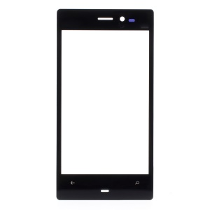 Front Glass Screen Lens Replacement Part for Nokia Lumia 928 - Black