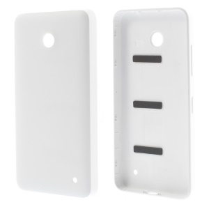 OEM Battery Door Cover Housing Replacement for Nokia Lumia 630 w/ Power & Volume Button - White