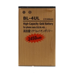 2450mAh BL-4UL Gold Li-ion Battery Replacement for Nokia 225 / 225 Dual SIM