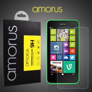 AMORUS for Nokia Lumia 630 Tempered Glass Screen Protector LCD Guard