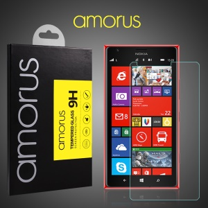 AMORUS for Nokia Lumia 1520 Tempered Glass Screen Protector LCD Guard Rounded Edge