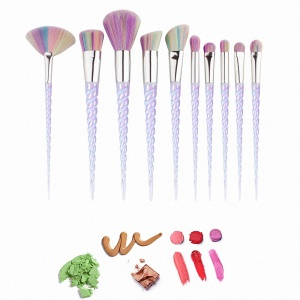 10pcs Unicorn Professional Foundation Powder Cream Blush Brush Kits Ensemble de brosse à maquillage