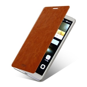 MOFI Rui Series Folio Leather Stand Cover for Huawei Ascend Mate7 - Brown