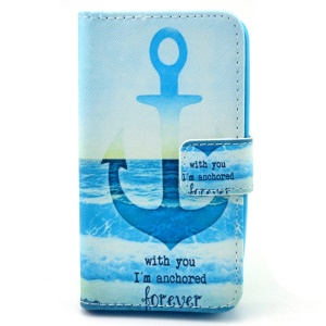 Magnetic Leather Wallet Case for Huawei Ascend Y330 w/ Stand - Quote & Anchor