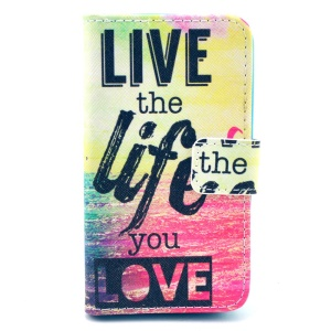 Durable PU Leather Cover Wallet for Huawei Ascend Y330 - Quote Live the Life You Love