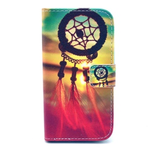 Durable Wallet Leather Bracket Case for Huawei Ascend Y330 - Dream Catcher