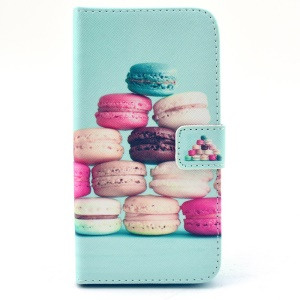 Colorful Macarons Wallet Leather Stand Case for Huawei Ascend G620