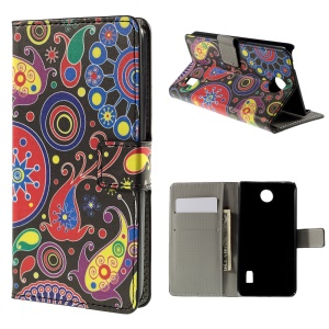 Paisley Flower Flip Leather Wallet Stand Cover for Huawei Y635