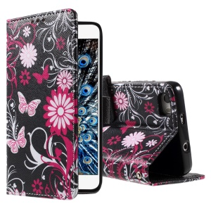 Callfree Butterfly Flowers Leather Wallet Cover Case for Huawei Honor 6