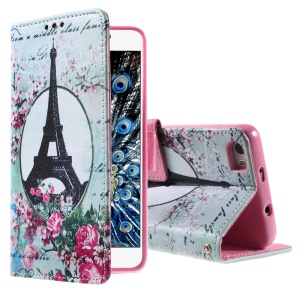 Callfree Eiffel Tower and Flowers Magnetic Leather Stand Case for Huawei Honor 6