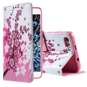 Callfree Plum Blossom Leather Card Holder Cover for Huawei Honor 6