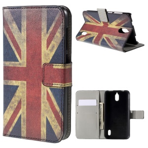 Retro UK Flag Flip Wallet Stand Leather Cover for Huawei Y625