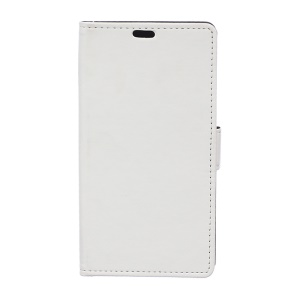 Card Holder Leather Cover for Huawei Y360 with Stand - White