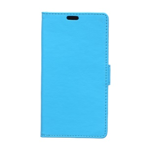 Card Holder Leather Cover for Huawei Y360 with Stand - Blue