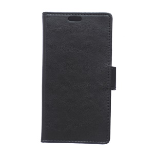 Crazy Horse PU Leather Card Holder Case Cover for Huawei Y635 - Black