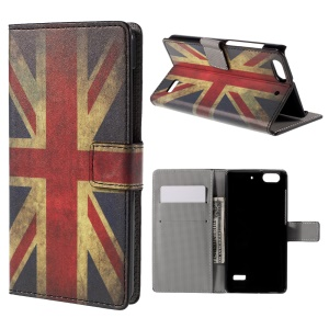 Patterned Wallet Leather Stand Case for Huawei Honor 4C - Vintage UK Flag