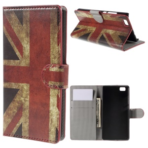 Retro Union Jack Flag Wallet Leather Phone Cover for Huawei Ascend P8 Lite