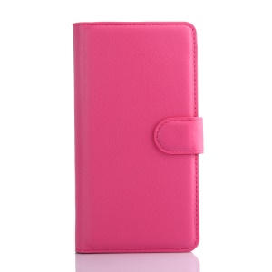 Litchi Grain Wallet Leather Stand Cover for Huawei Honor 4C - Rose
