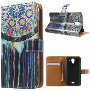 Dream Catcher Leather Wallet Case for Huawei Y360