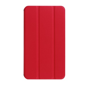 Tri-fold Folio Leather Case for Huawei MediaPad T1 7.0 / Honor Tablet T1 (T1-701u) - Red