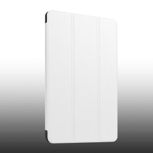 Leather Cover for Huawei MediaPad T1 10 with Tri-fold Stand - White