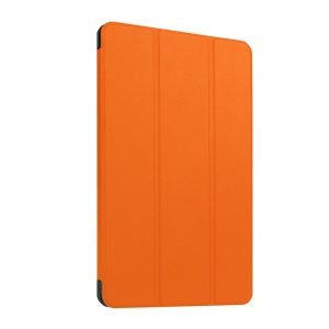 Leather Cover for Huawei MediaPad T1 10 with Tri-fold Stand - Orange