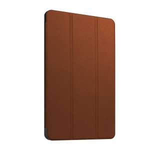 Leather Cover for Huawei MediaPad T1 10 with Tri-fold Stand - Brown