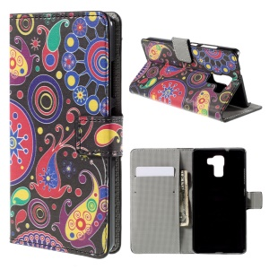 Paisley Pattern for Huawei Honor 7 Wallet Stand Leather Case