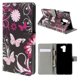 Floral and Butterflies for Huawei Honor 7 Wallet Stand Leather Case