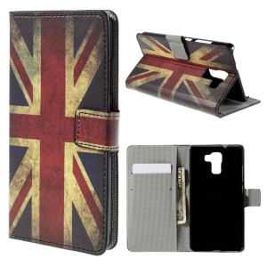 Retro UK Flag for Huawei Honor 7 Wallet Stand Leather Cover