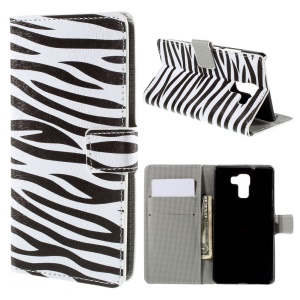 Zebra Stripe for Huawei Honor 7 Wallet Leather Flip Cover