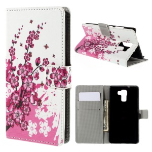 Plum Blossom for Huawei Honor 7 / 7 Premium Wallet Leather Phone Cover
