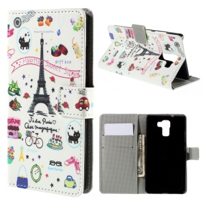 Palettes Sweet Street for Huawei Honor 7 Wallet Leather Phone Cover