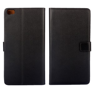 Genuine Split Leather Wallet Stand Case for Huawei Ascend P8 Max