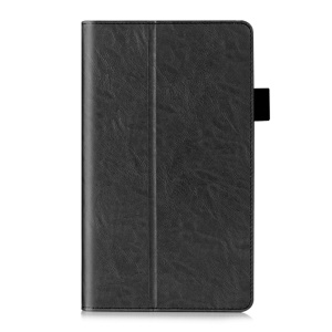 Card Slots Leather Stand Case for Huawei MediaPad M2 M2-801W with Hand Strap - Black