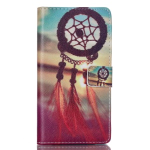 Wallet Leather Cover for Huawei Ascend P8 Lite - Feather Dream Catcher