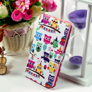 Callfree for Huawei Ascend P8 Lite Flip Leatherette Wallet Cover - Multiple Adorable Owls