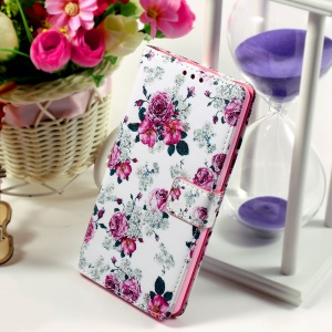 Callfree for Huawei Ascend P8 Lite Protective Wallet Leather Phone Case - Girly Roses