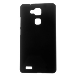 Rubberized Hard Plastic Case for Huawei Ascend Mate7 - Black
