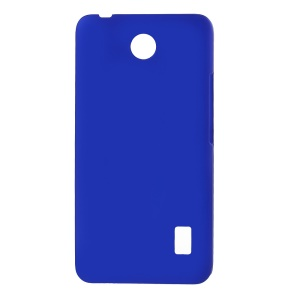Rubberized Protective PC Shell for Huawei Y635 - Dark Blue